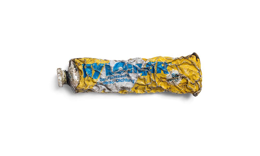 artwork zerdrückte Hylomar-Tube