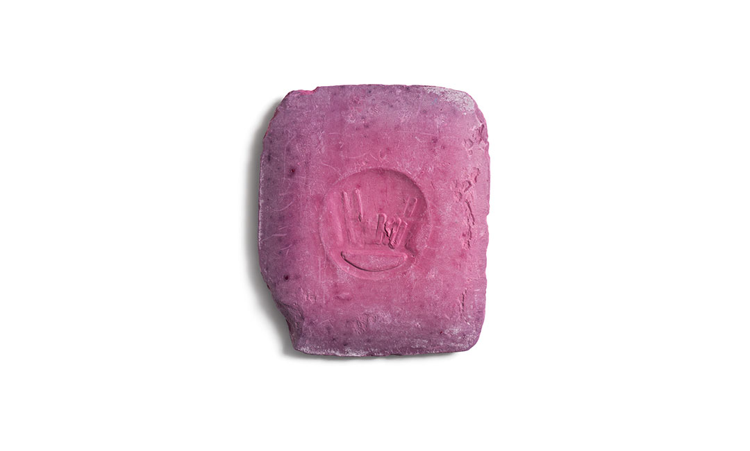 artwork pink-violette schneiderkreide