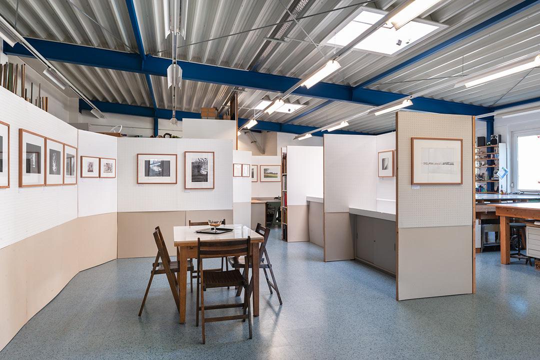 Blick in die Werkstattgalerie Posselt